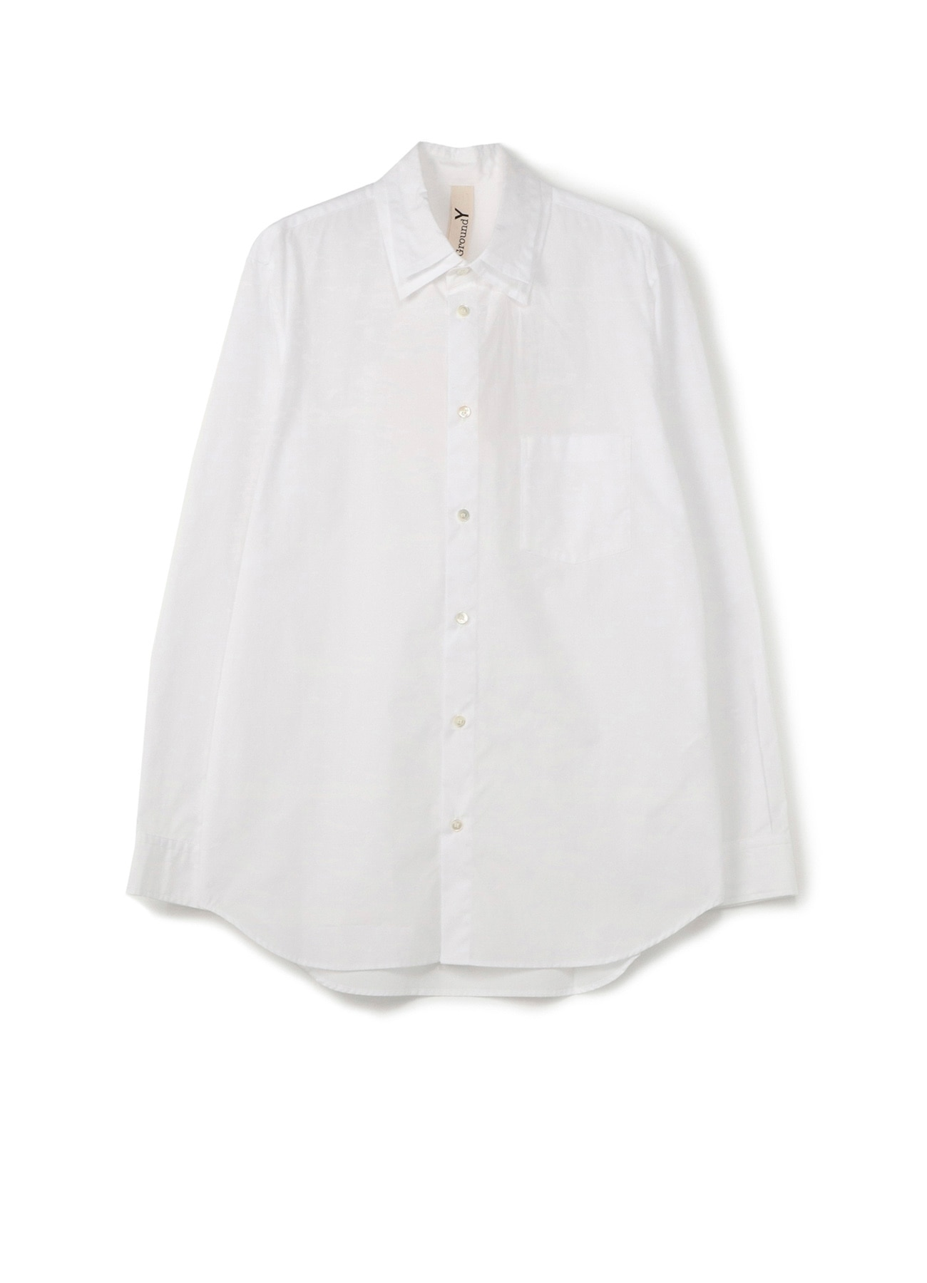 Cotton/ Broadcloth Plane Double Collared Shirt