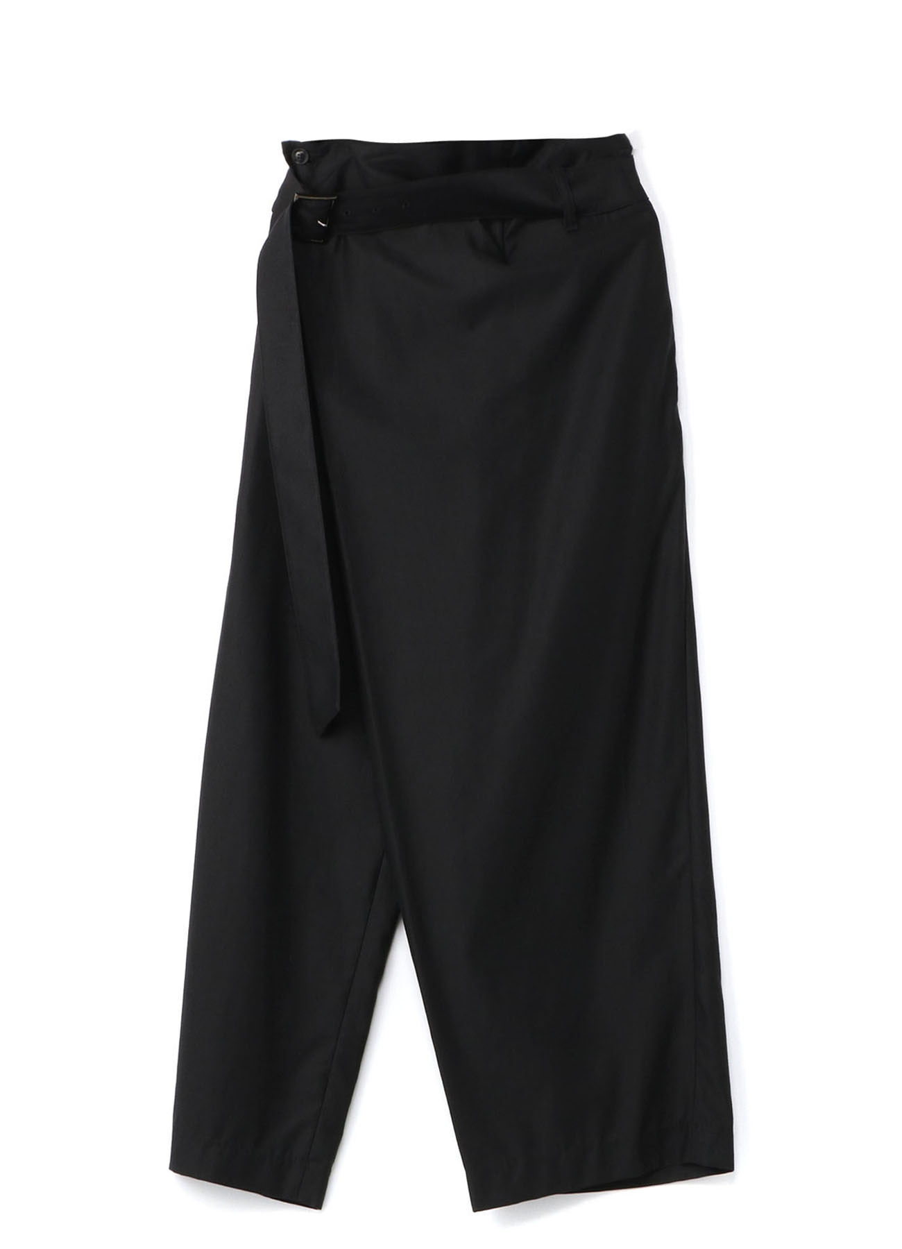 Pre Collection Tencel/Cotton Slab Back Satin High-Waist Belt Wrap Pants