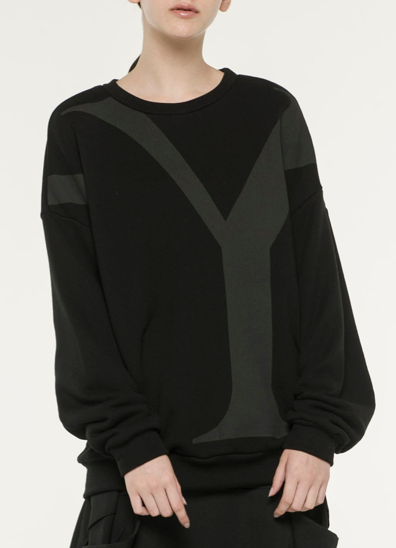 Y's Print Fleece Fabric Shirt