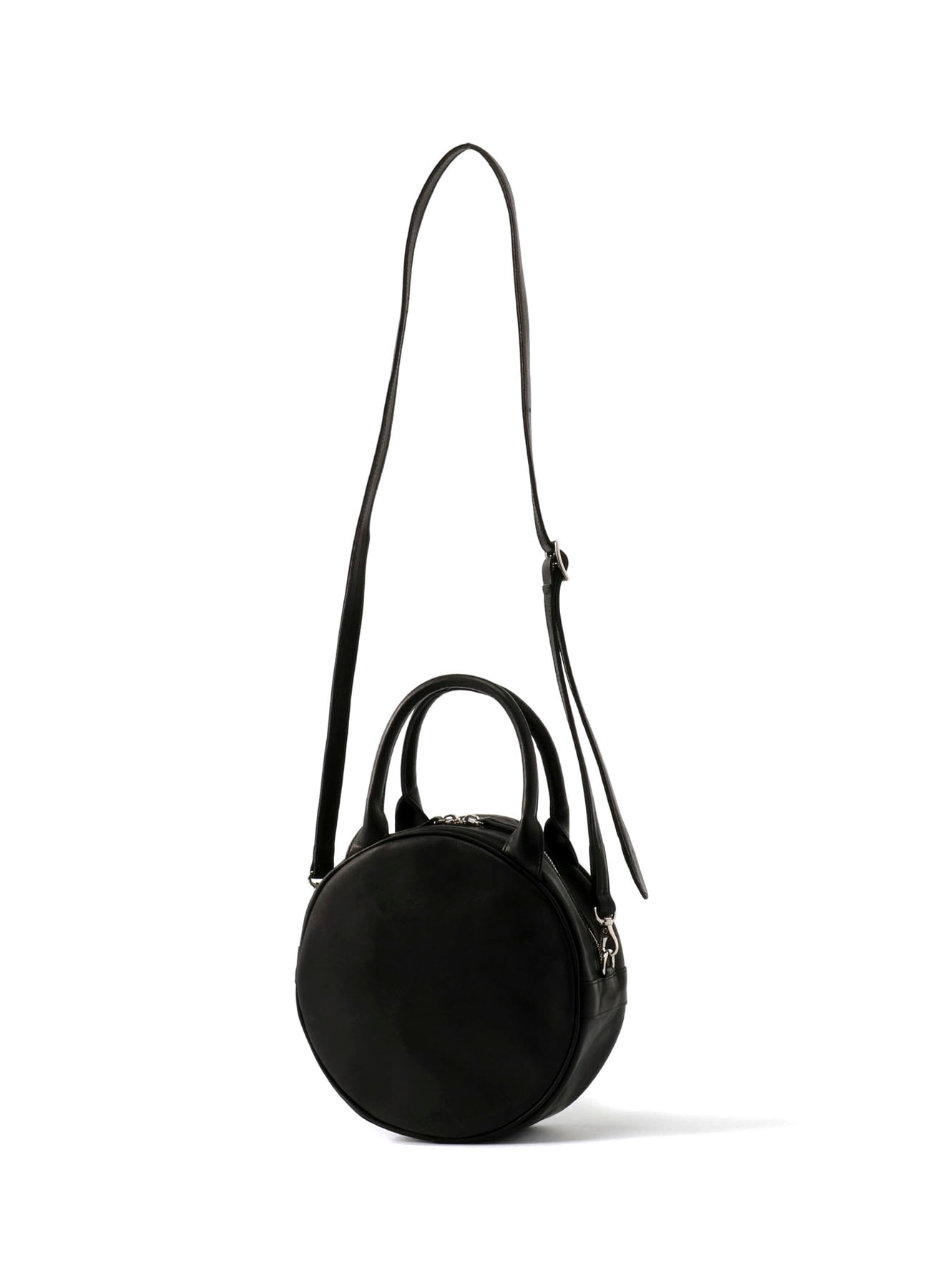 Oil Leather Circle Bag