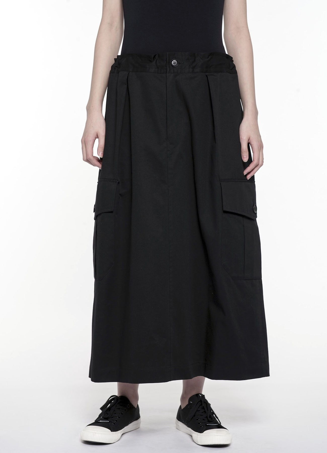 Side Pocket Straight Skirt