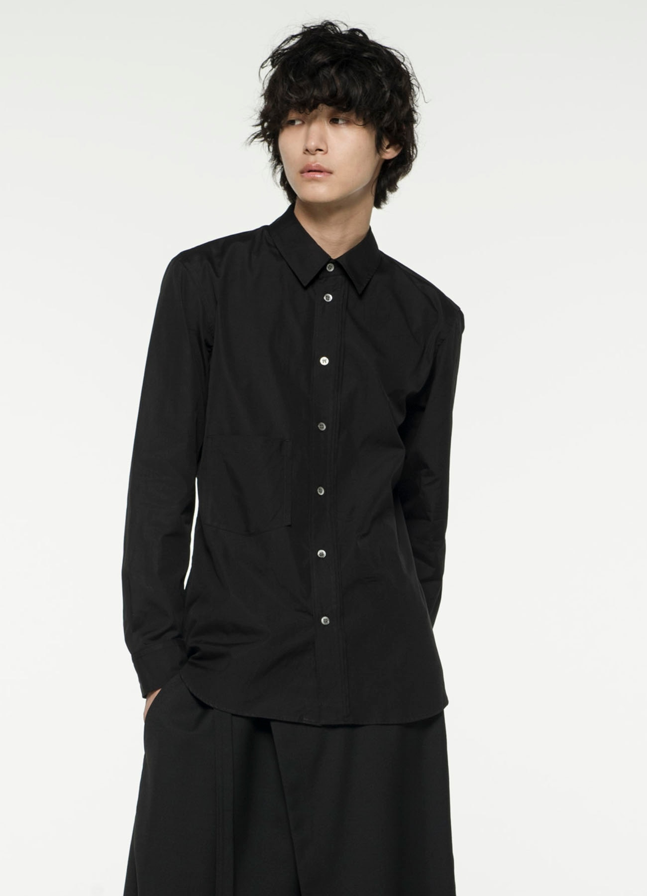 Cotton/ Broadcloth Edge Cut Off Shirt