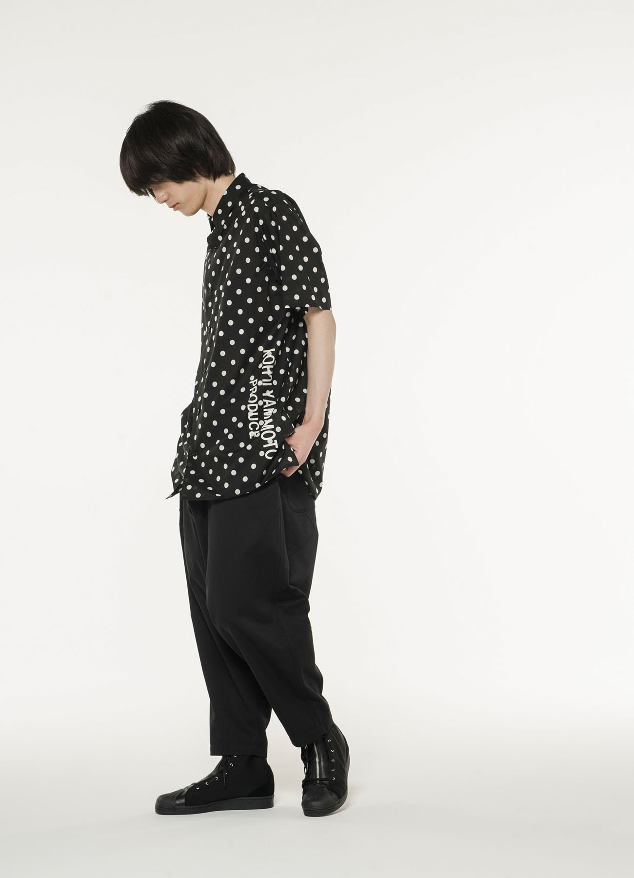 【THE SHOP限定】水玉半袖シャツ